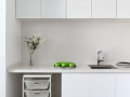 White Cabinet Design For SOHO Apartment 05