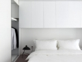 White Cabinet Design For SOHO Apartment 06