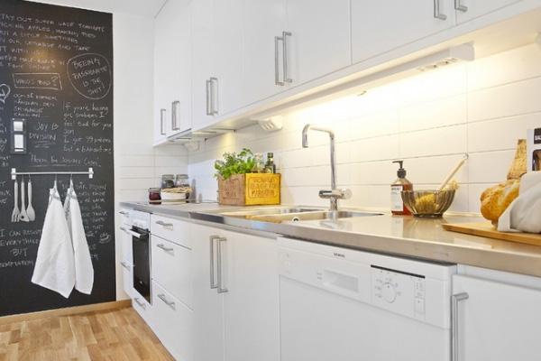 White Contemporary Kitchen Cabinet Design