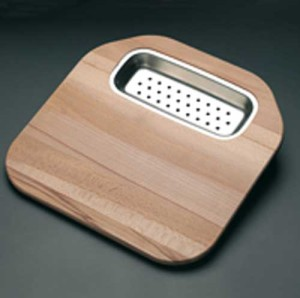 WOODEN CUTTING BOARD COLANDER STAINLESS STEEL S1210