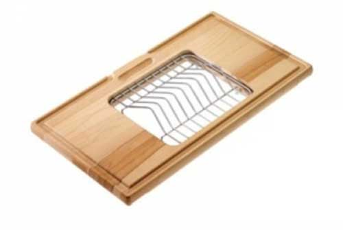 WOODEN-CUTTINGBOARD WITH DISH HOLDER S3105