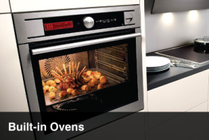 built-in oven kitchen