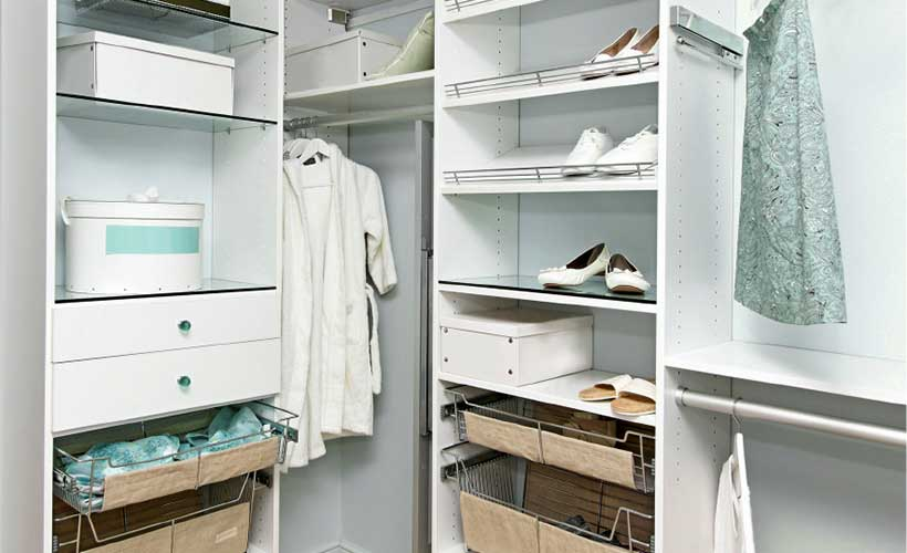 White Colour Walk-in Concept Wardrobe