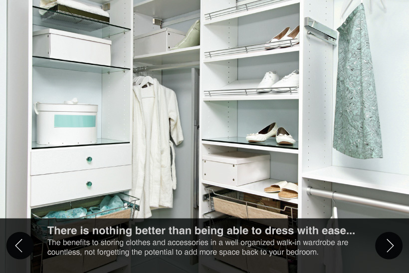 walk-in wardrobe slide