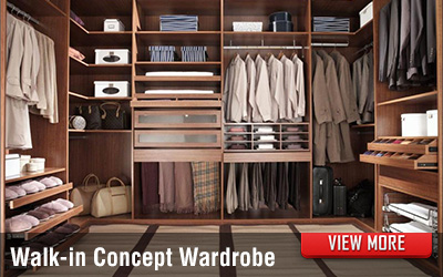 Walk-in Concept Bedroom Wardrobe