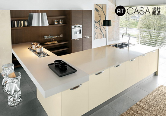 Modern White-Collar Favorite Kitchen Design 04