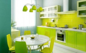 Vitality Fresh Green Kitchen Design Ideas