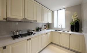 Cream White Classic Kitchen Cabinet Design