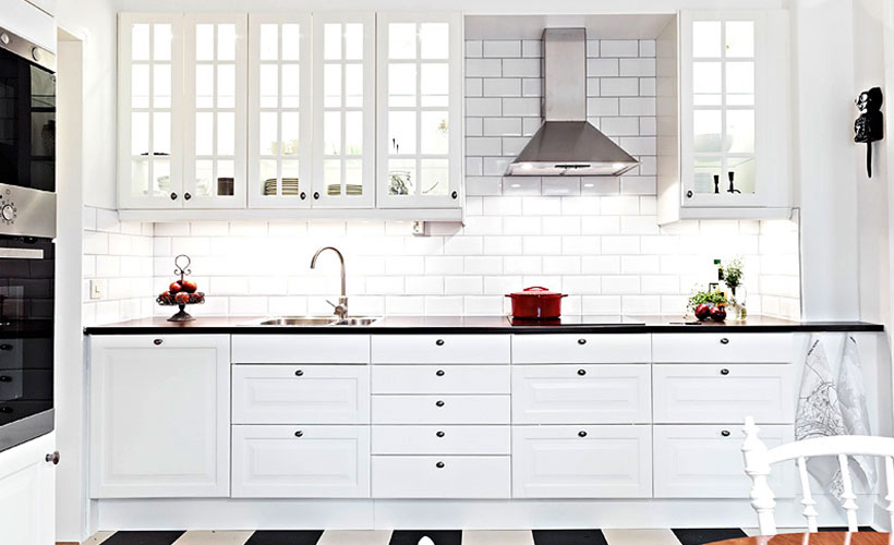 Open Concept Classic Kitchen Cabinet Design