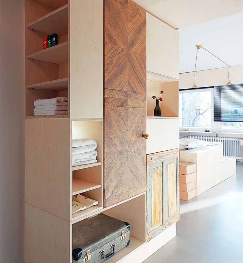 Small Apartment Space Planning - Storage Cabinet
