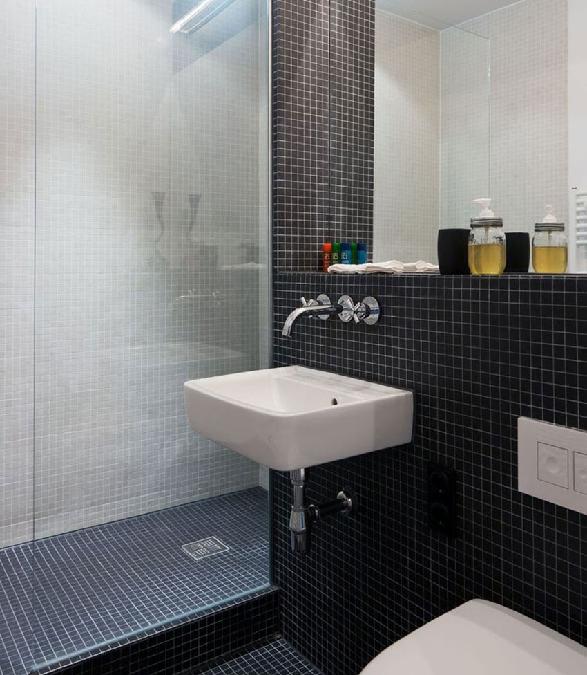 Small Apartment Space Planning - Bathroom