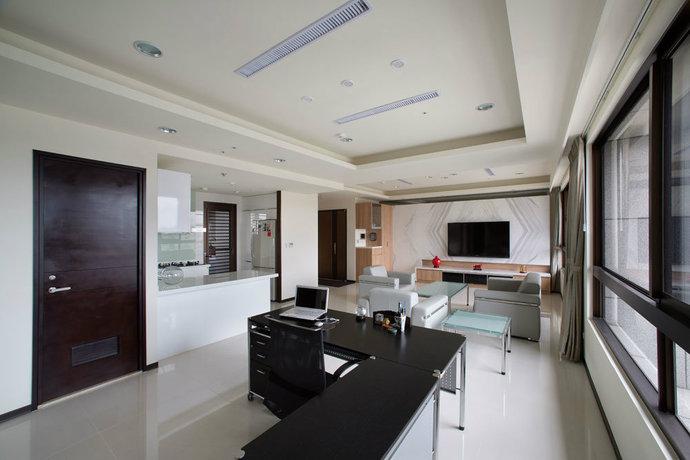 modern open concept interior design renovation