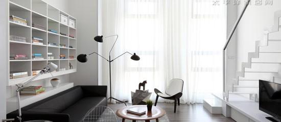 White Cabinet Design For SOHO Apartment