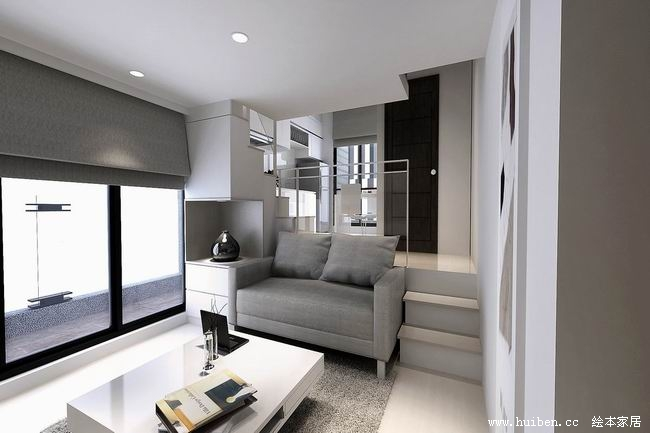 Soho Apartment With White Kitchen Cabinet Wardrobe 01
