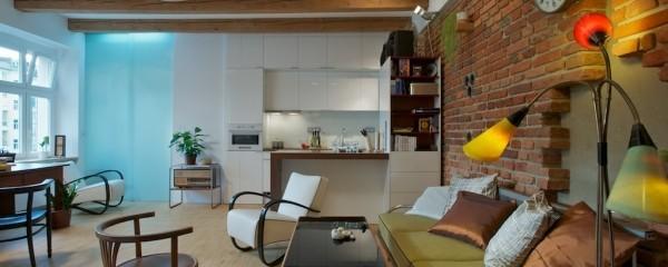 Czech Single Men Loft Style Interior Design Apartment