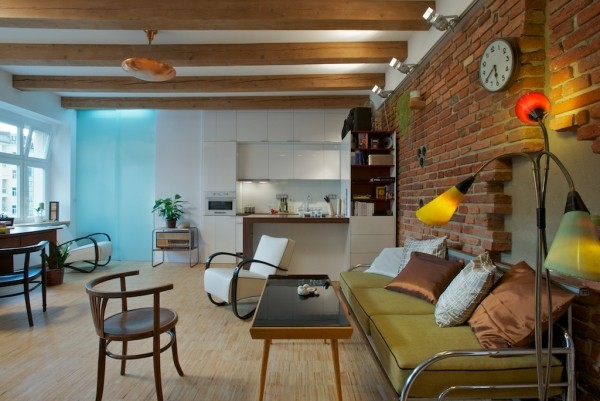 Czech Single Men Loft Style Interior Design Apartment