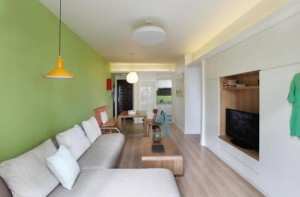 fresh and comfortable apartment interior design