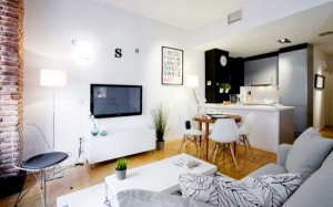 spain small apartment interior design occupy with loft style concept