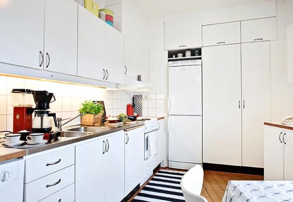 White Contemporary Kitchen Cabinets Design Ideas